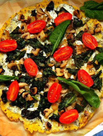 Ciasto na pizzę z kaszy jaglanej
