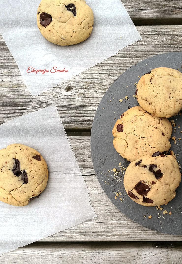 Ciasteczka z maki ryzowej z kawalkami czekolady 2