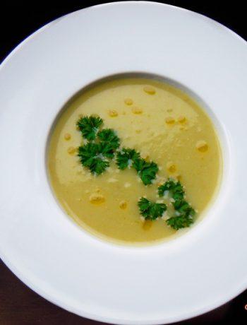 Zupa krem ziemniaczano - porowa