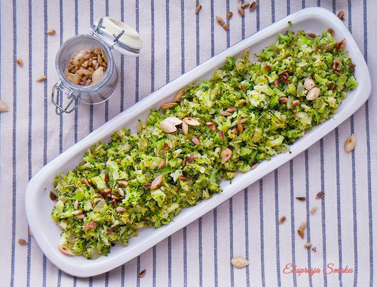 Smażony ryż z brokuła