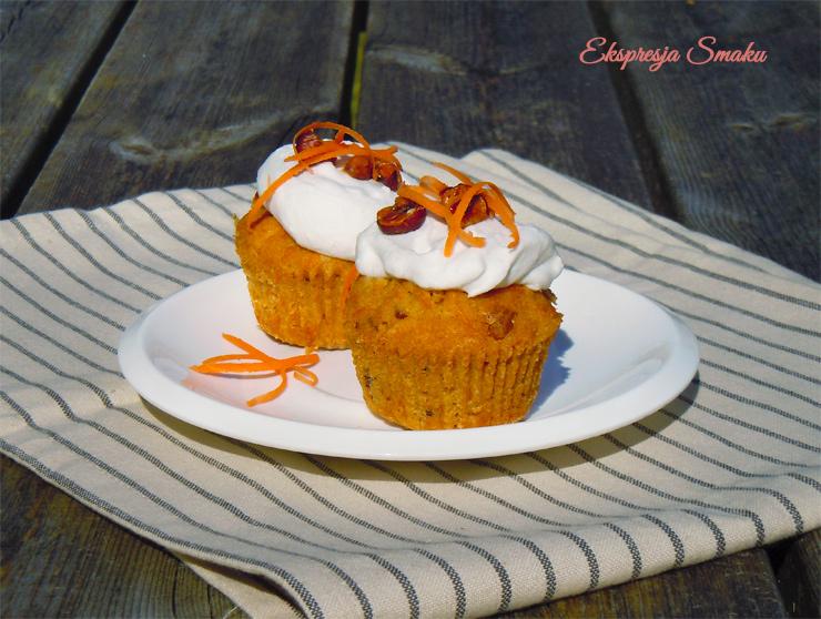 Bezglutenowe muffinki marchewkowe