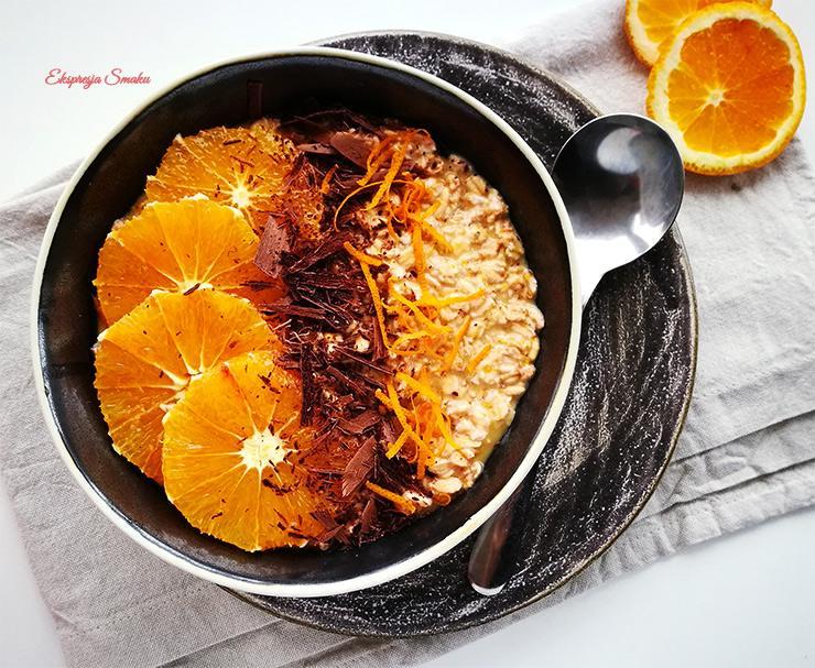 Nocna owsianka pomarańczowa