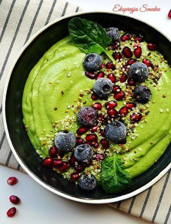 Zielone smoothie bowl
