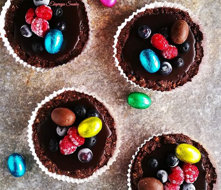 Czekoladowe tartaletki czyli mini tarty bez pieczenia i bez glutenu