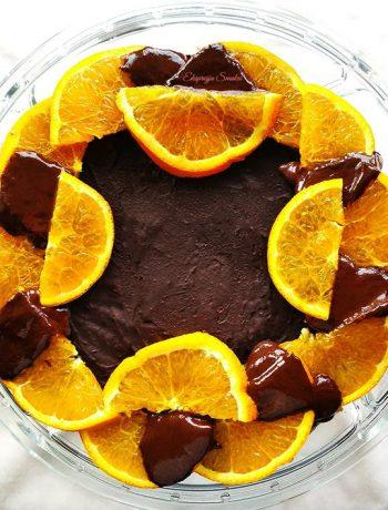 Ciasto pomarańczowe bez pieczenia i bez glutenu