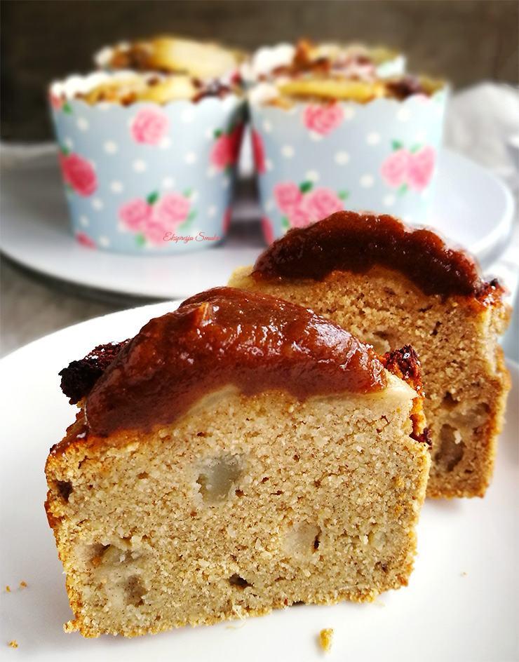 Gruszkowo-kokosowe muffinki bez glutenu i bez cukru