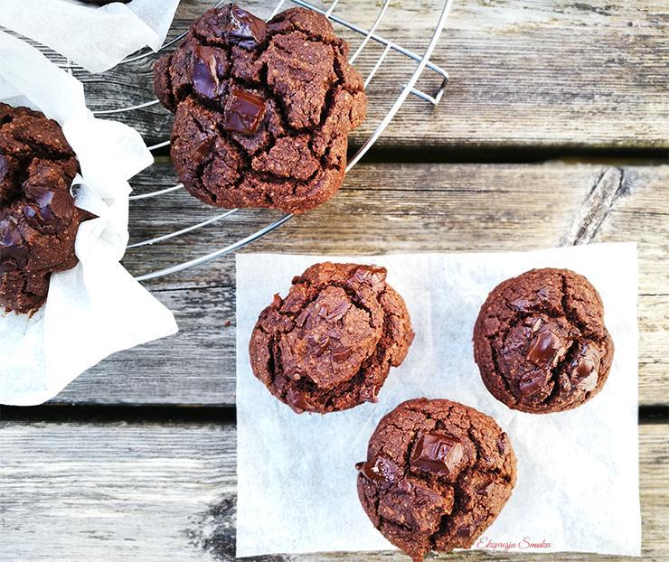 Podwójnie czekoladowe muffinki bezglutenowe
