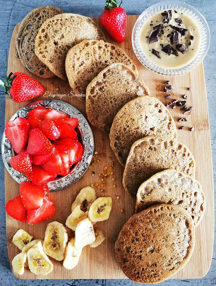 Bezglutenowe i wegańskie pancakes